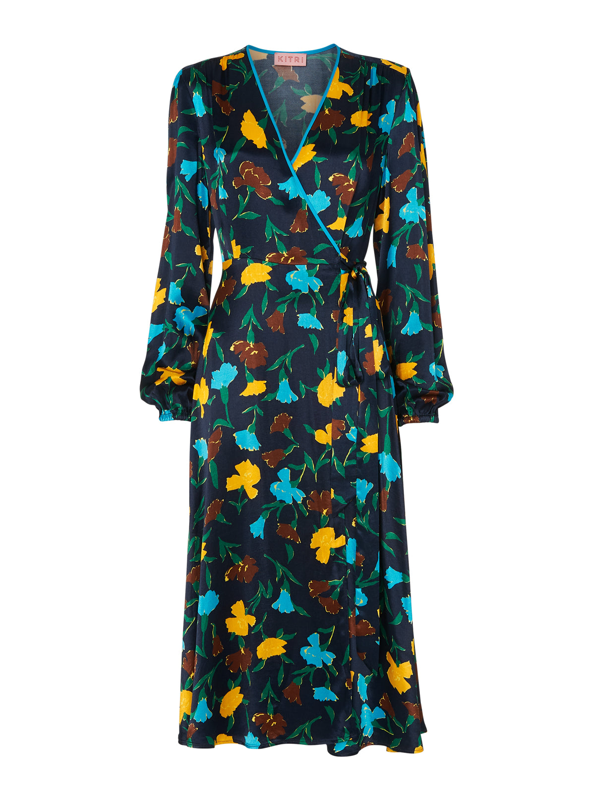 Diana Floral Print Wrap Dress by KITRI Studio