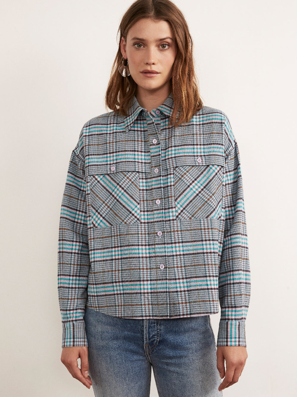 Felicity Oversized Checked Shirt by KITRI Studio