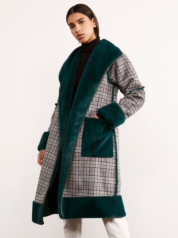 Finley Green Reversible Teddy Coat by KITRI Studio