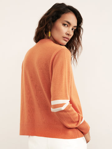 Florrie Orange Crew Neck Sweater