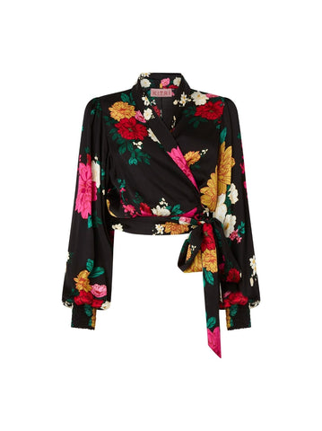 Francesca Floral Wrap Top by KITRI Studio