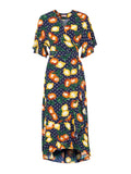 Freya Fruit Print Wrap Dress by KITRI Studio