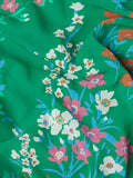 Lauren Green Floral Print Dress