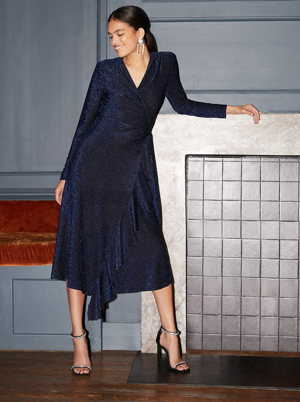 Gamzatti Blue Wrap Dress by KITRI Studio