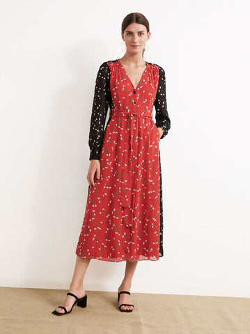 Geneviève Patch Floral Dress