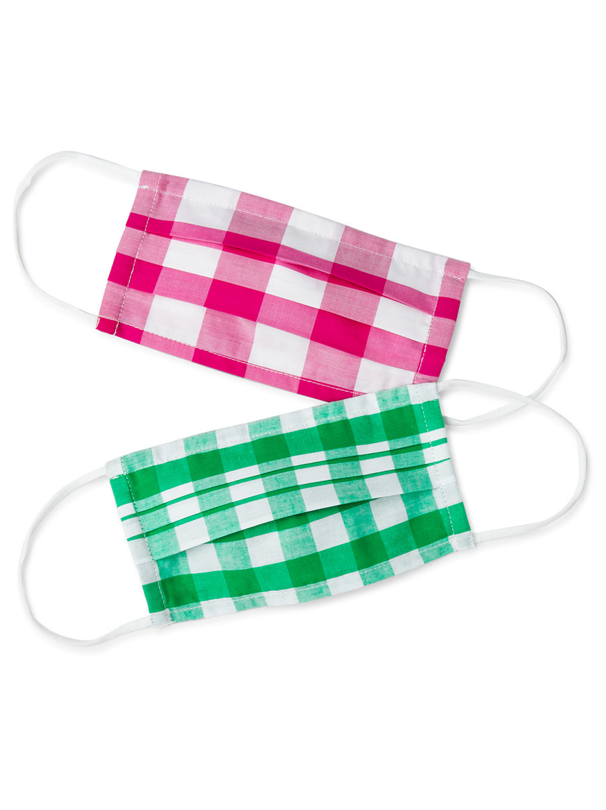 Gingham Face Coverings: 2x Pack by KITRI Studio