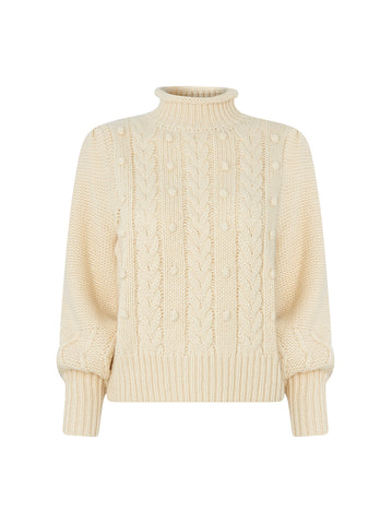 Giulia Cream Cable Knit Jumper