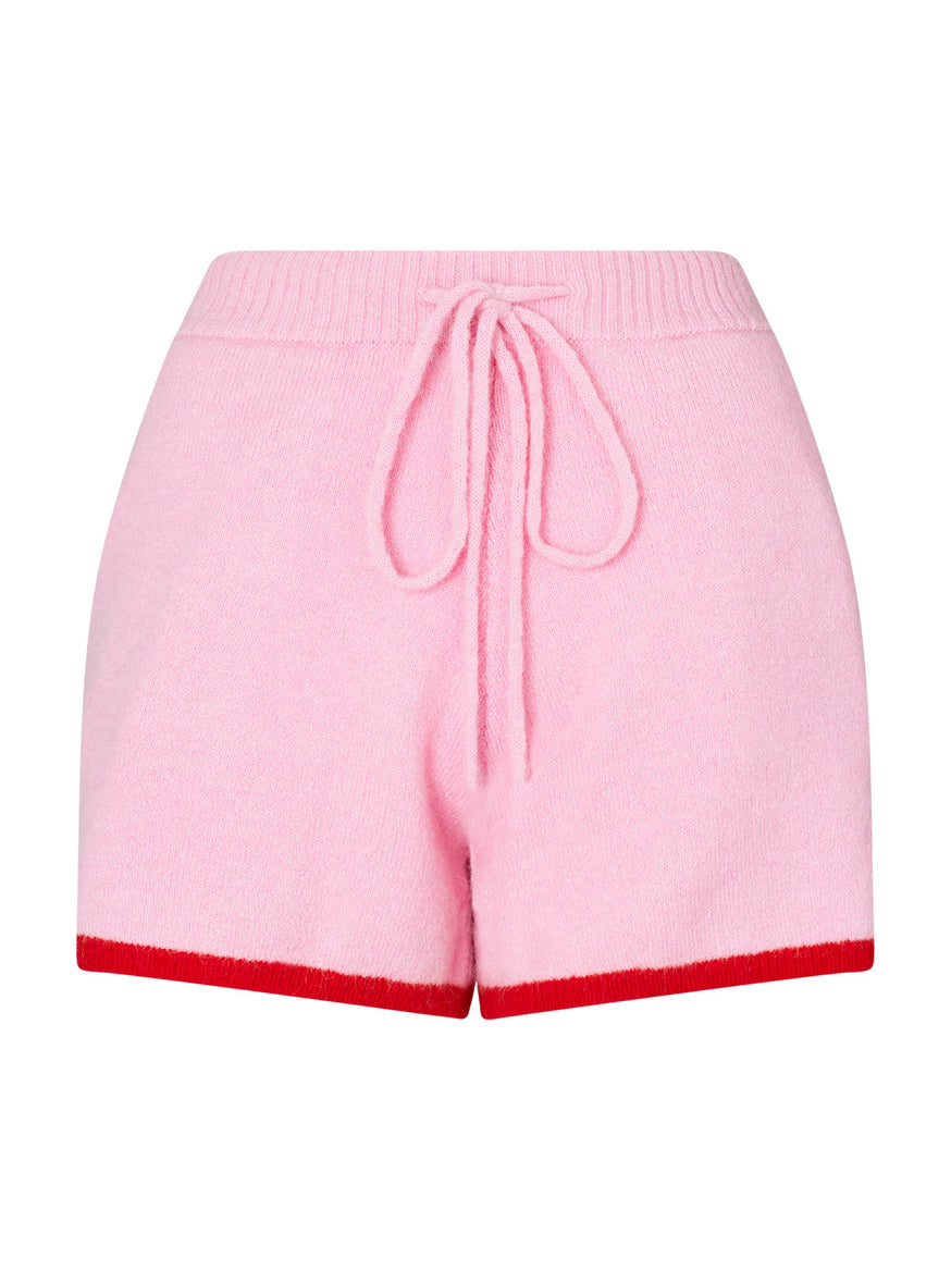 Pre-order: Harriet Pink Alpaca Blend Shorts