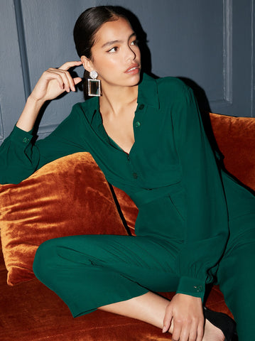 Herera Green Jumpsuit by KITRI Studio