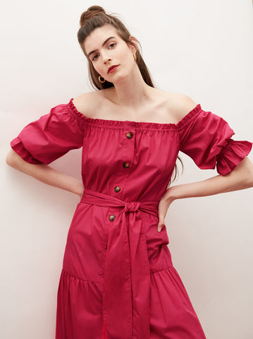 Ione Pink Bardot Dress