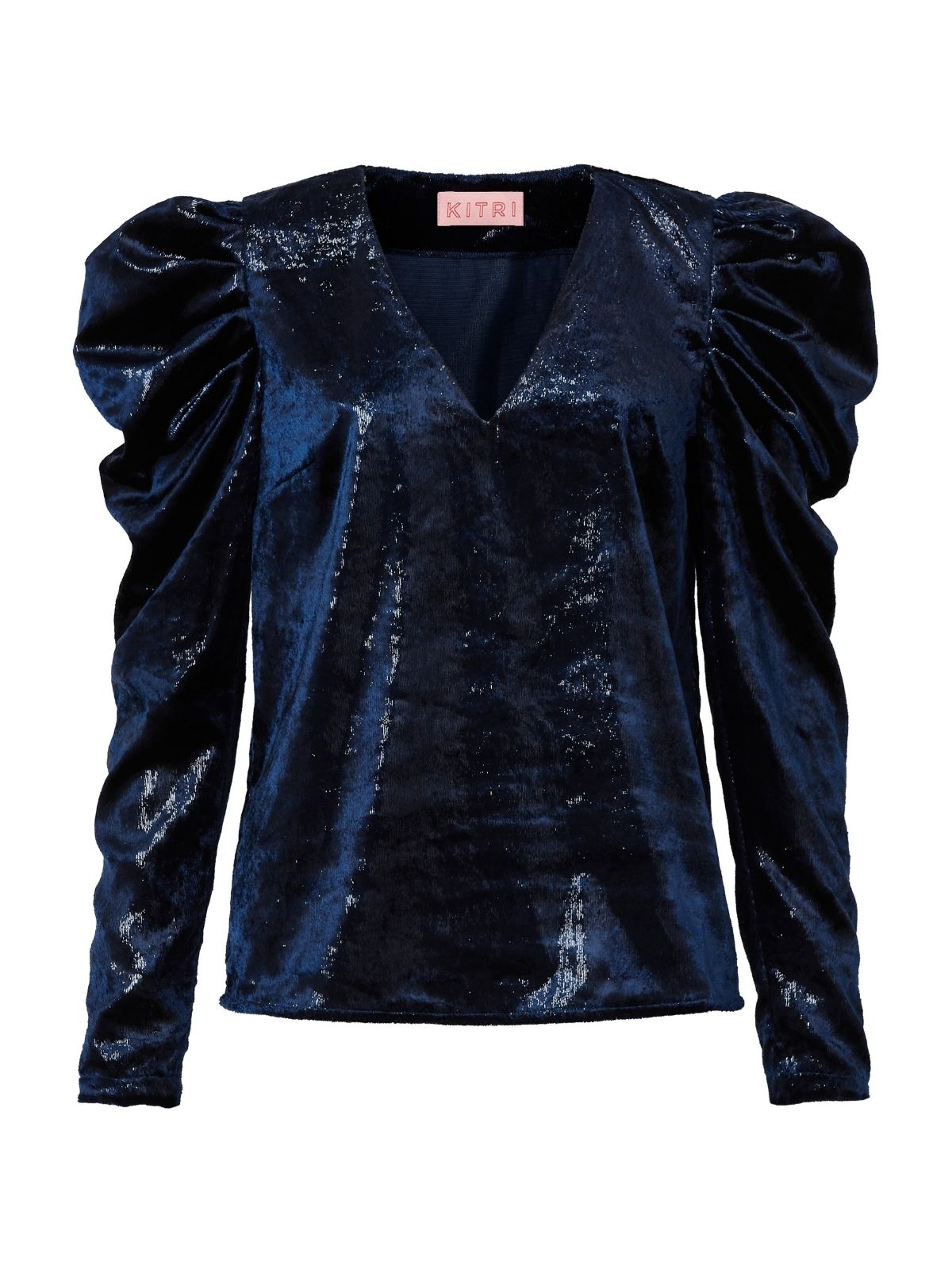 Isadora Metallic Velvet V-Neck Top