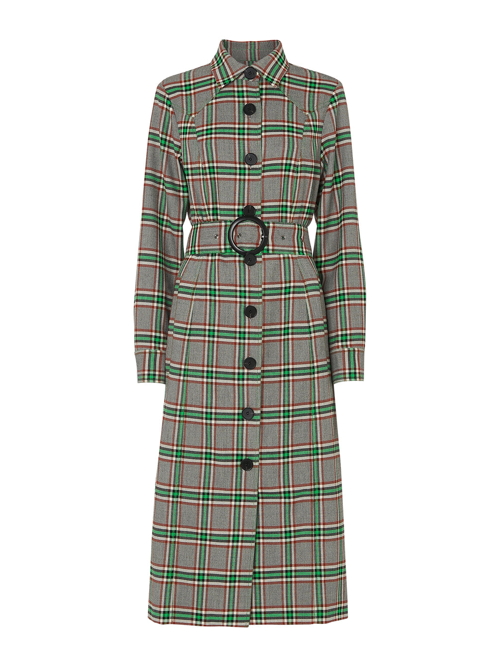Jeanette Check Belted Jacket Dress
