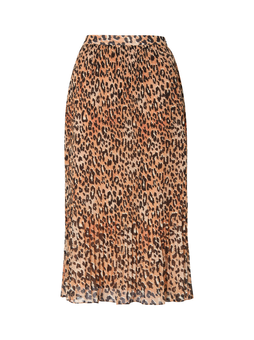 Jeanine Animal Print Pleated Skirt by KITRI Studio