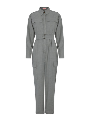 Jule Grey Flannel Boilersuit