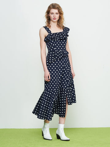 Ailen Polka Dot Frill Dress