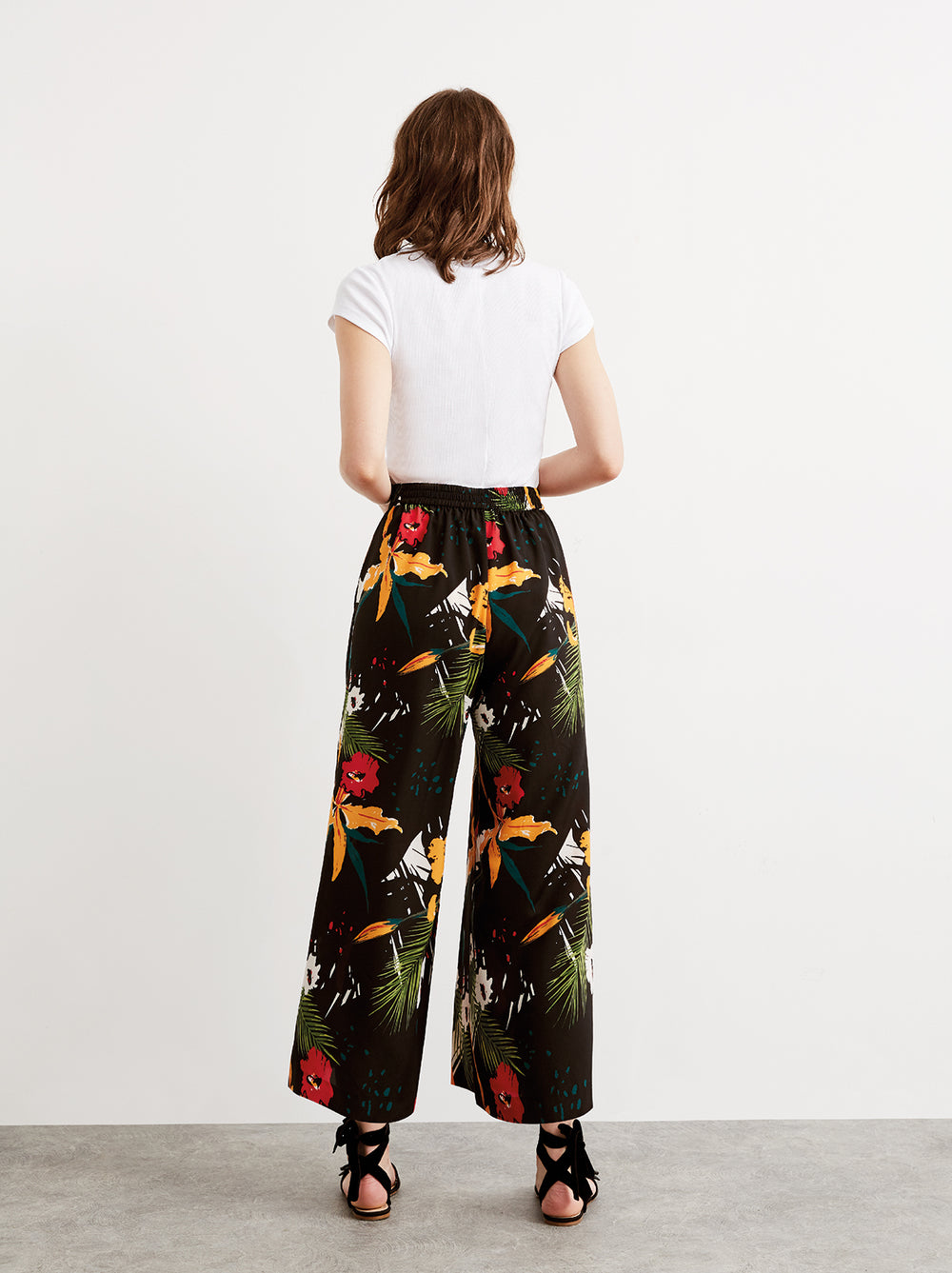 Ada Floral Printed Culotte Wide Leg Trousers by KITRI Studio