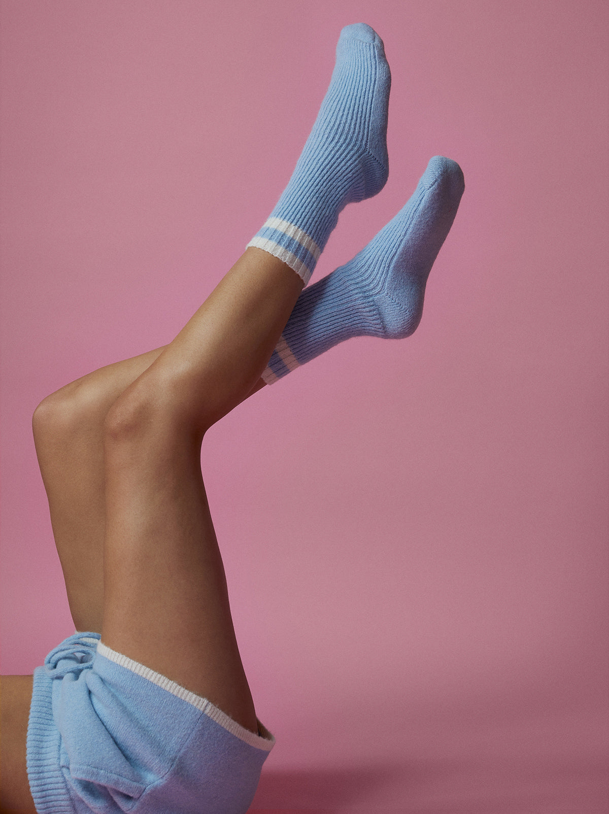 Blue Alpaca Blend  Slipper Socks by KITRI Studio