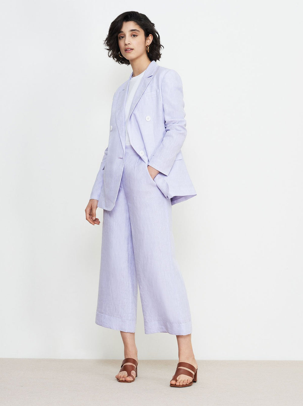 Dominique Linen Blazer