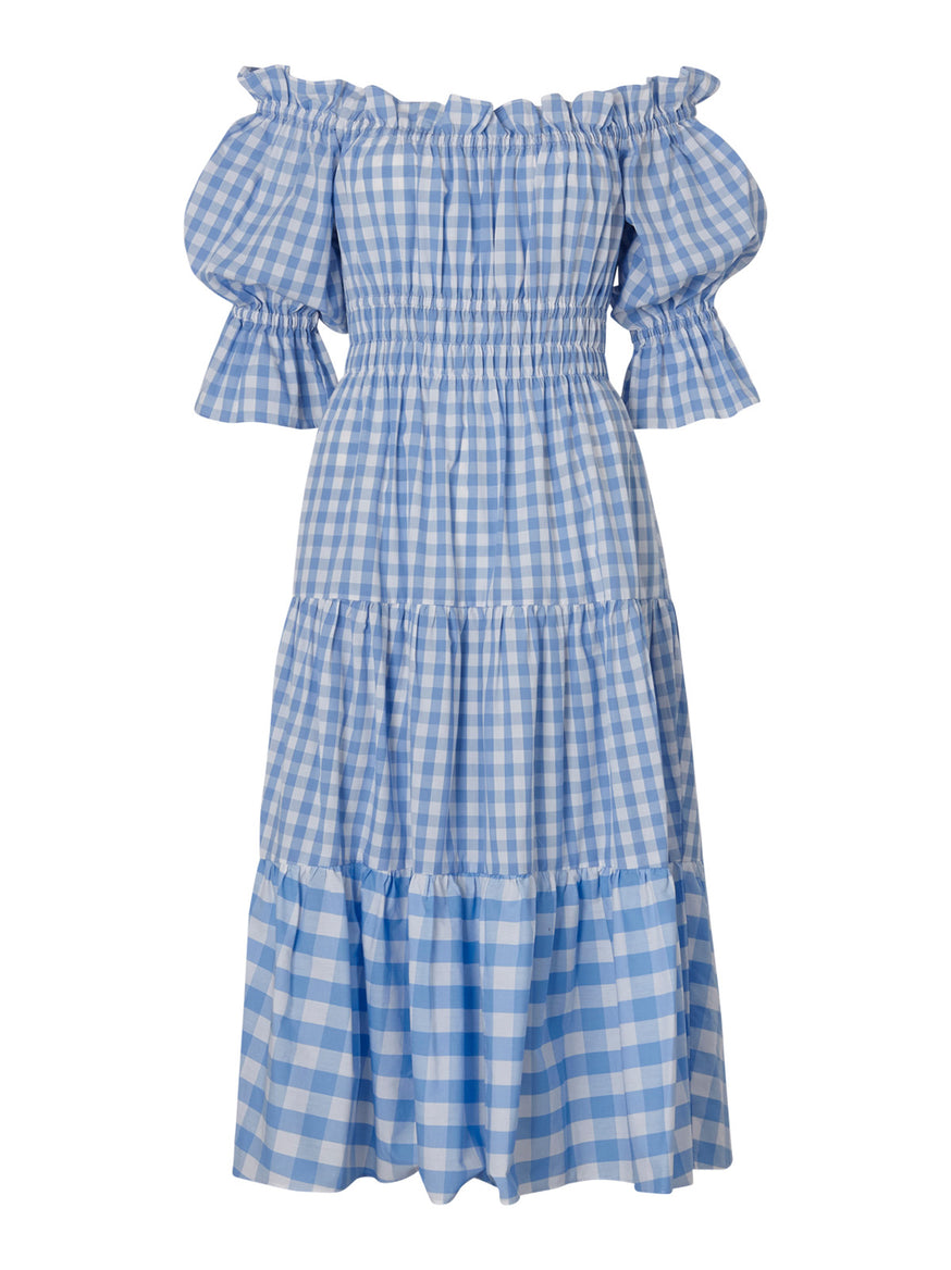 Fonteyn Blue Gingham Dress by KITRI Studio