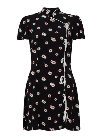 Harlow Black Daisy Mini Dress by KITRI Studio