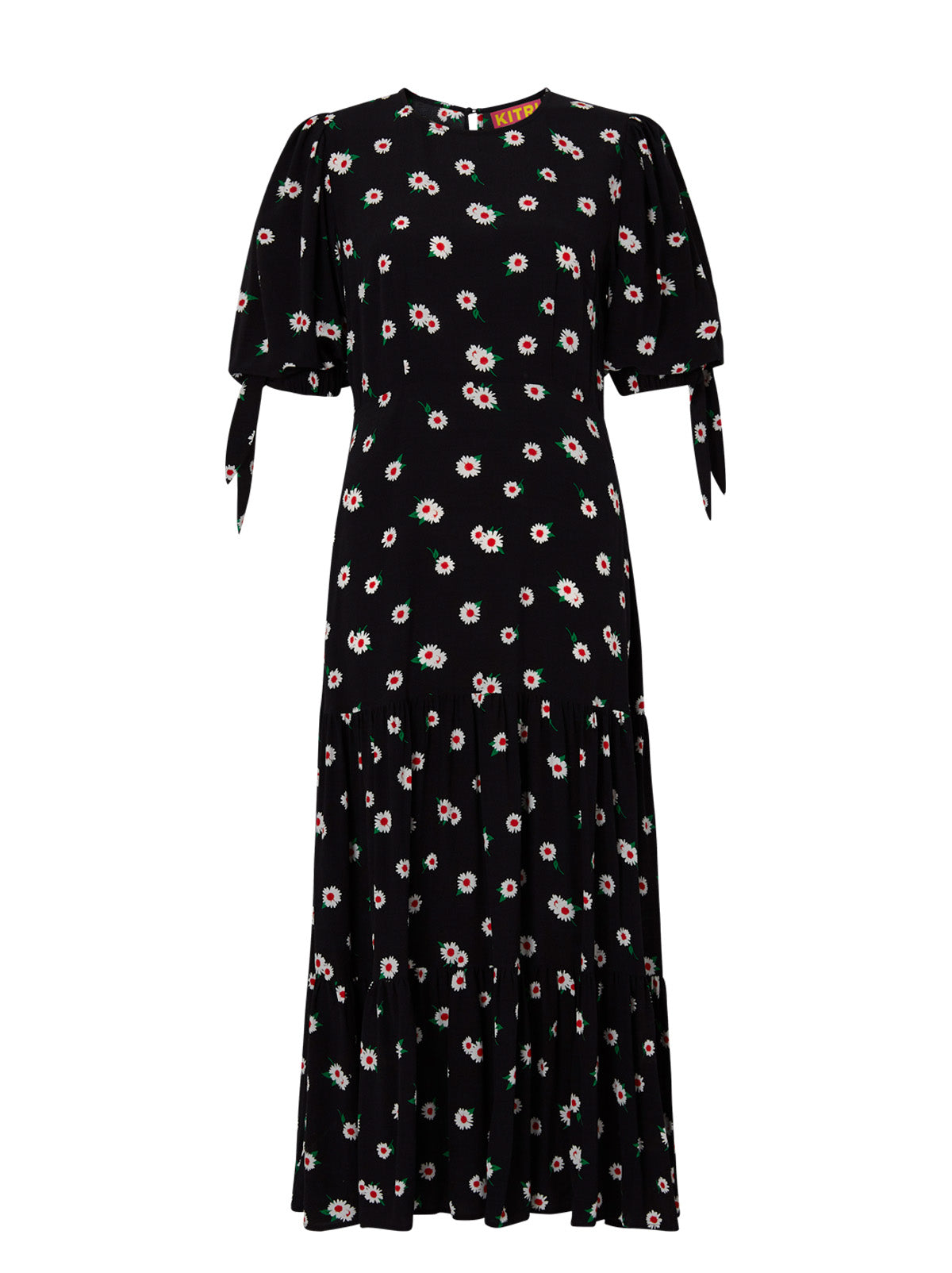 Heather Black Daisy Midi Dress by KITRI Studio