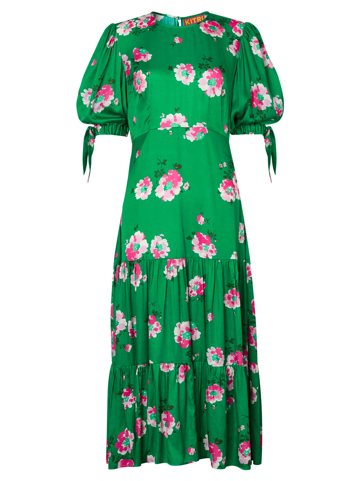 Heather Green Floral Dress by KITRI Studio