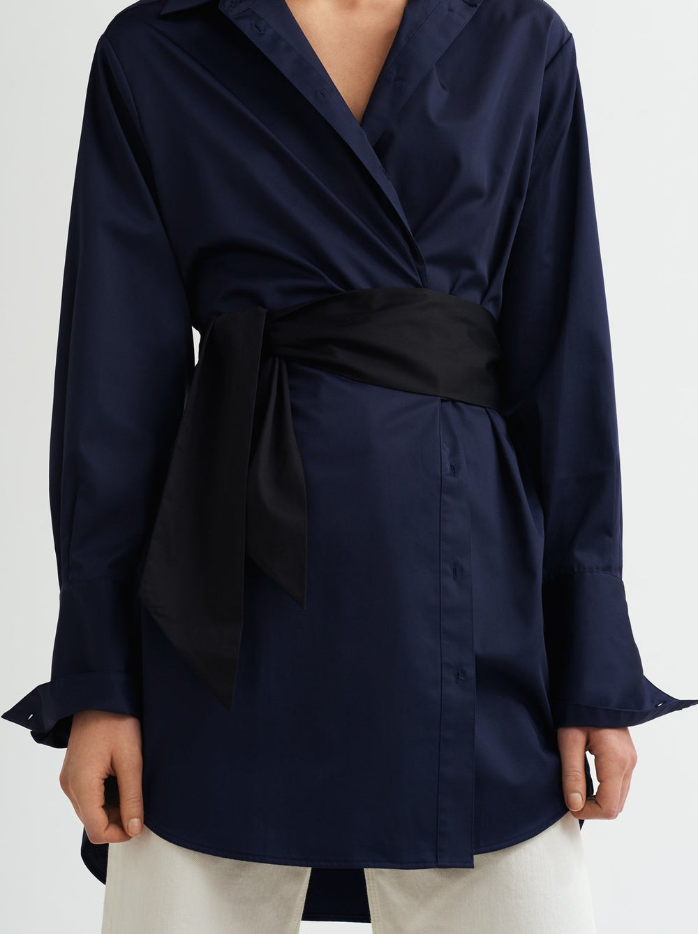 Joanna Sash Shirt Dress by KITRI Studio