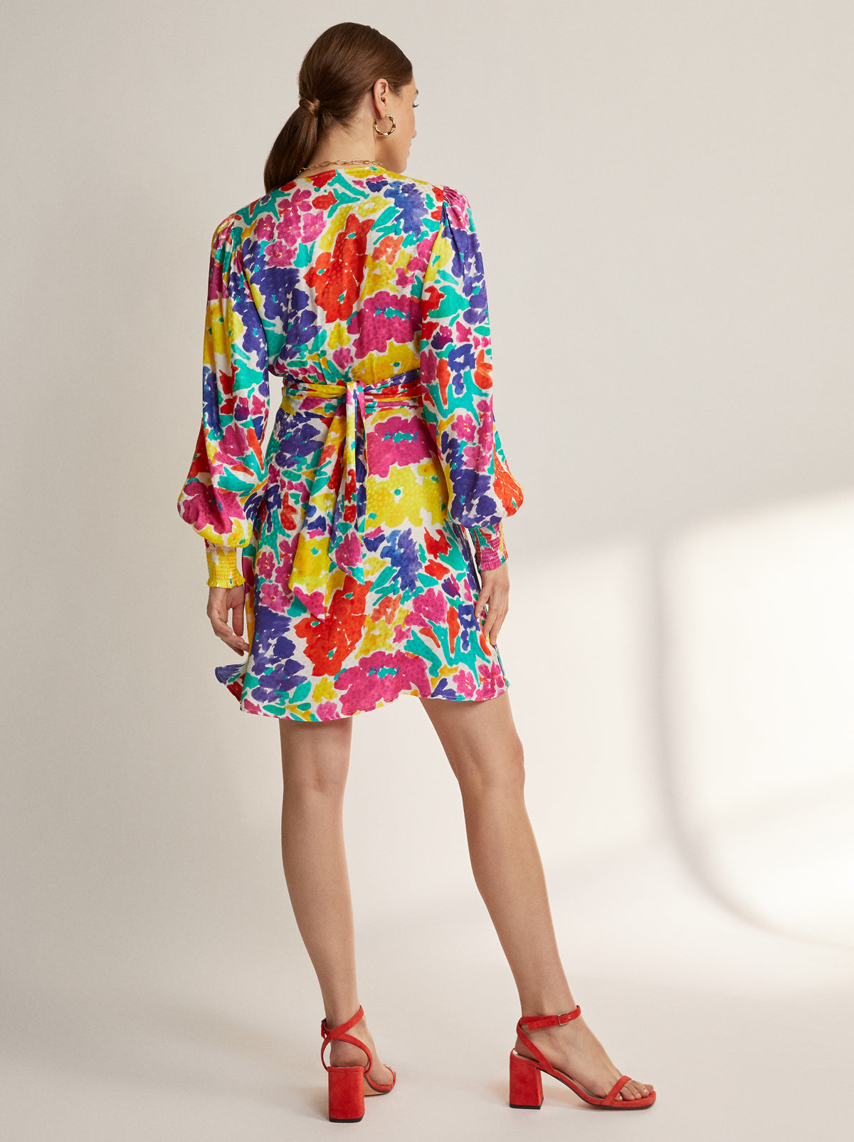 Lise Printed Jacquard Mini Dress by KITRI Studio