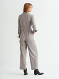 Lorna Grey Pinstripe Tailored Jumpsuit by KITRI Studio