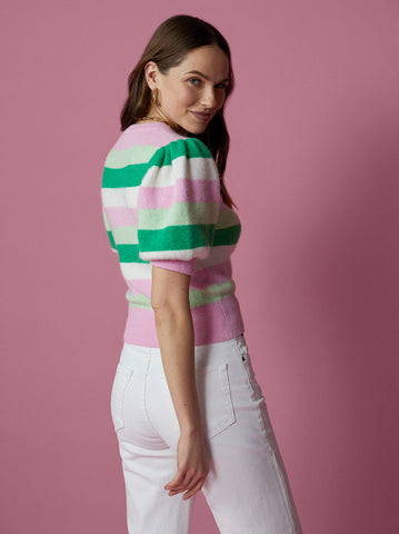 Lucille Striped Short Sleeve Top by KITRI Studio