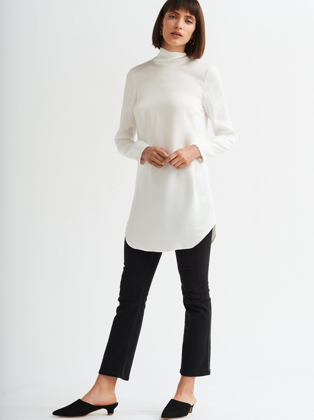 Manon Ivory Scarf Tunic Dress by KITRI Studio