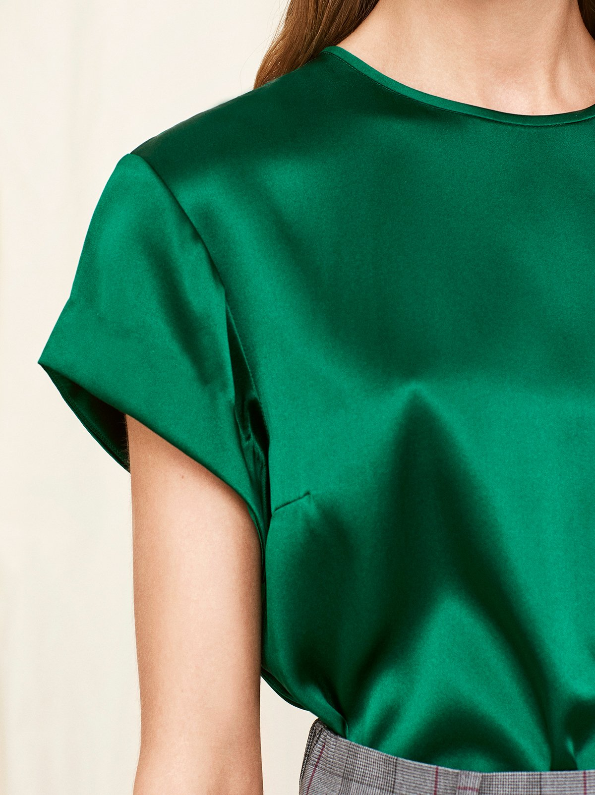 Olivia Green Silk T-shirt