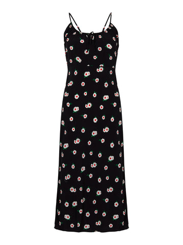 Ondine Black Daisy Slip Dress by KITRI Studio