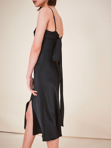 Ondine Black Slip Dress