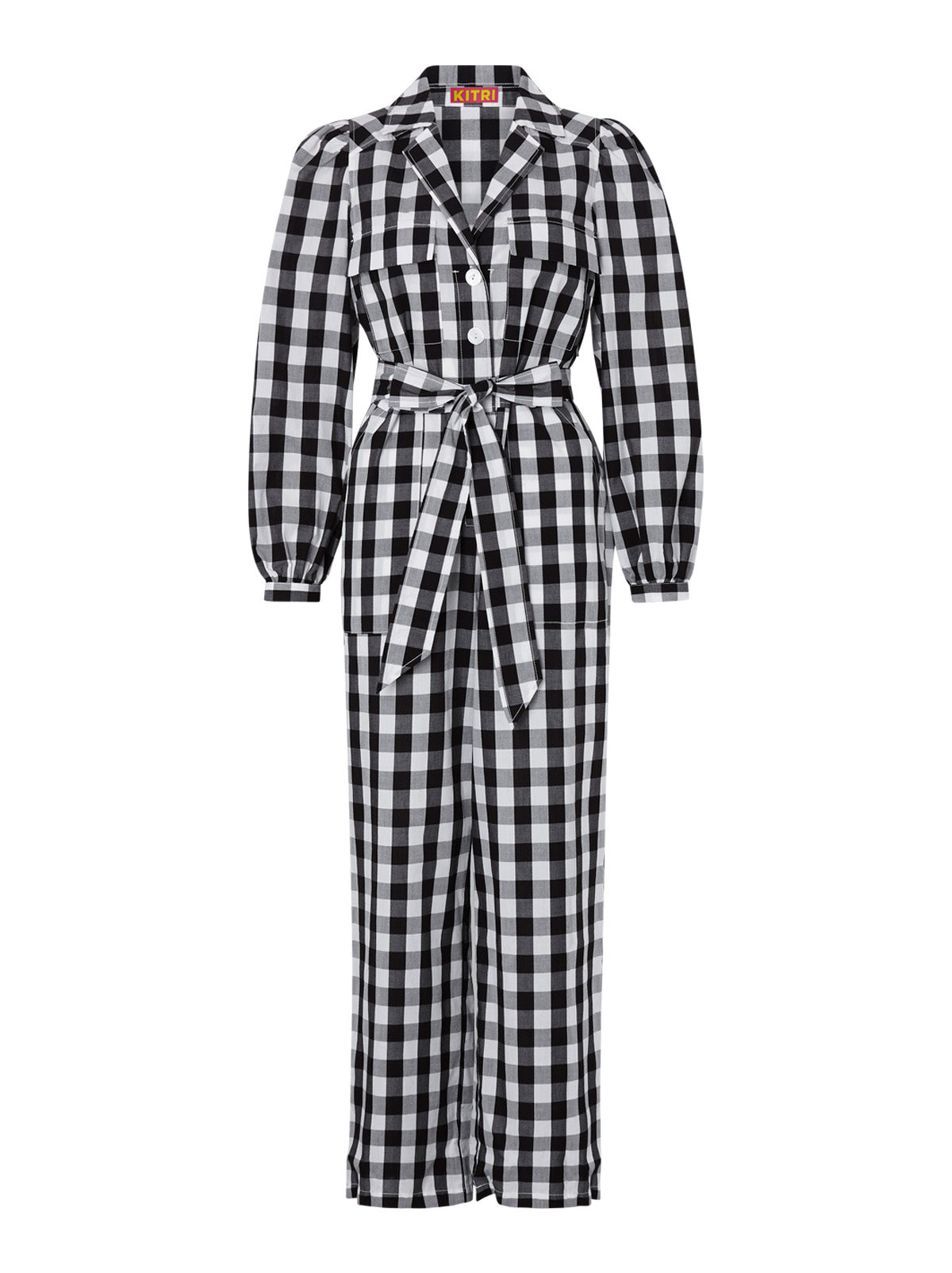 Remi Black Gingham Jumpsuit by KITRI Studio