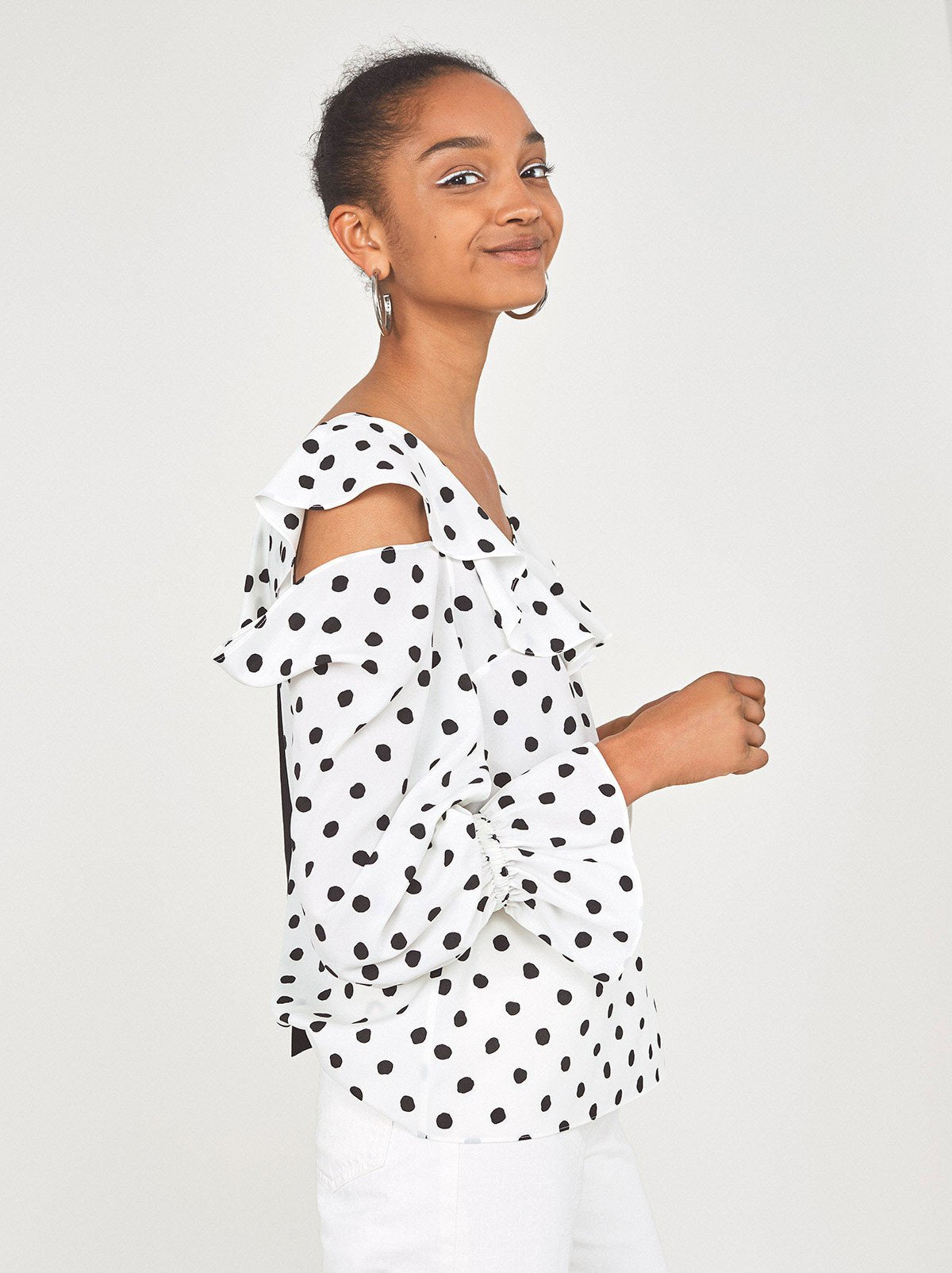 Susan Frill Polka Dot Top