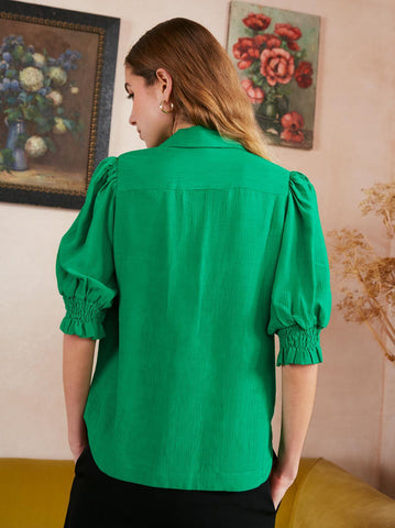 Kiki Green Vintage Top by KITRI Studio