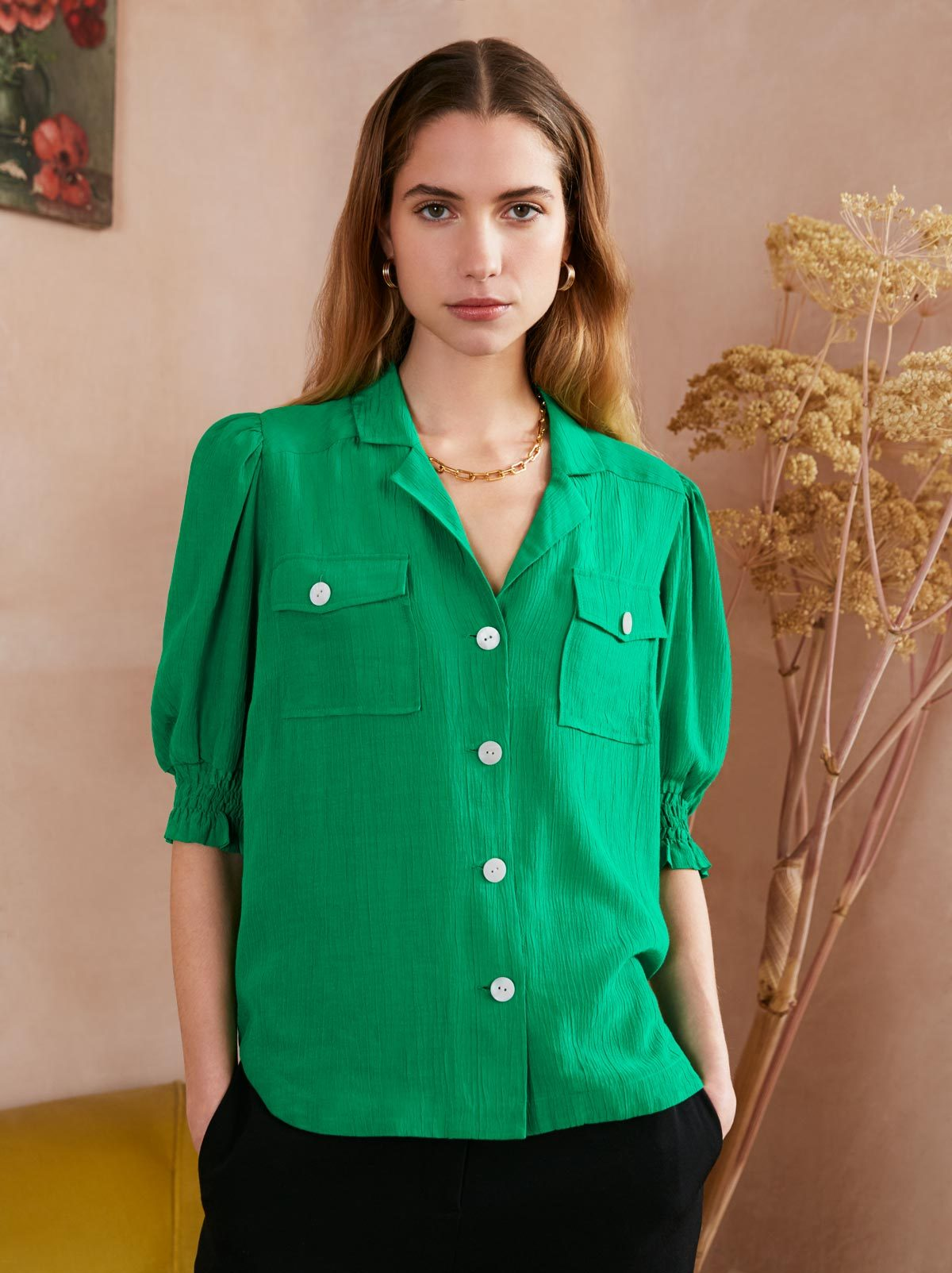 Kiki Green Vintage Top Back by KITRI Studio