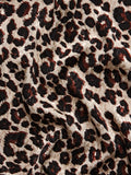 Apollo Leopard Print Feather Trousers