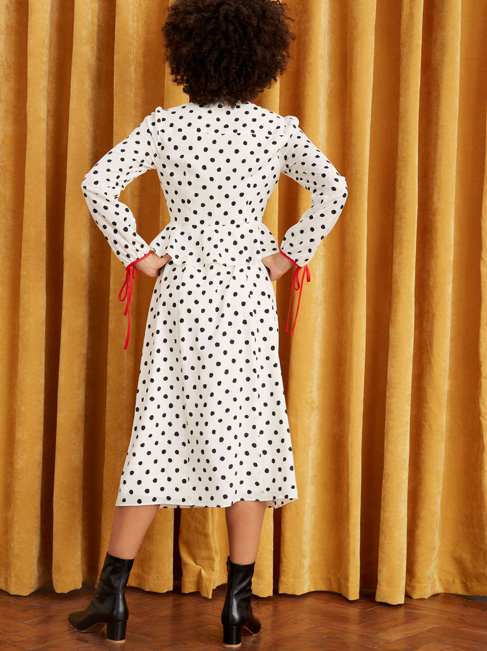 Lana White Polka Dot Dress by KITRI Studio
