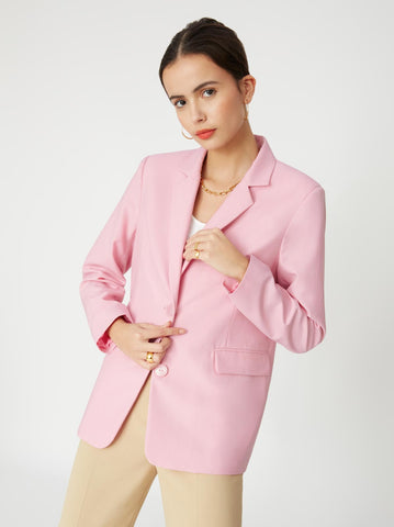 Laurie Pink Oversized Blazer