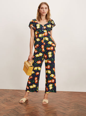 Lavana Fruit Print Jumpsuit