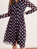 Lotta Pink Polka Dot Shirt Dress by KITRI Studio