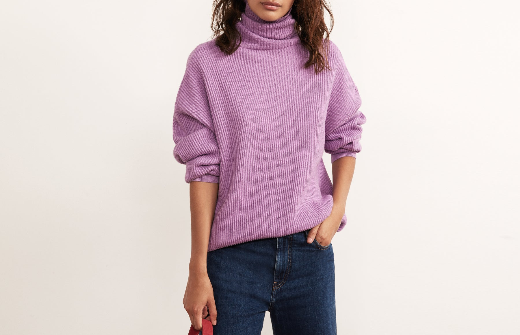 Mabel Ultraviolet Roll Neck Sweater