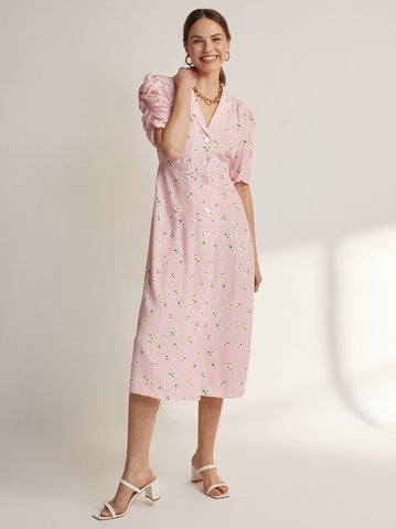 Maguire Pink Floral Dress by KITRI Studio