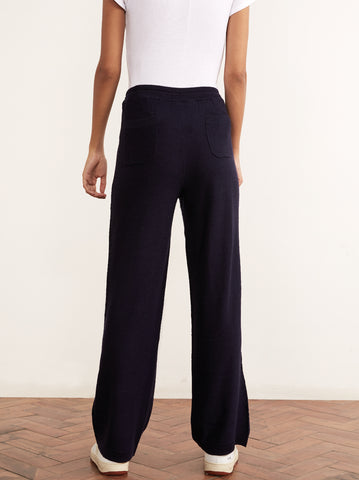 Matilda Navy Merino Wool Trousers by KITRI Studio