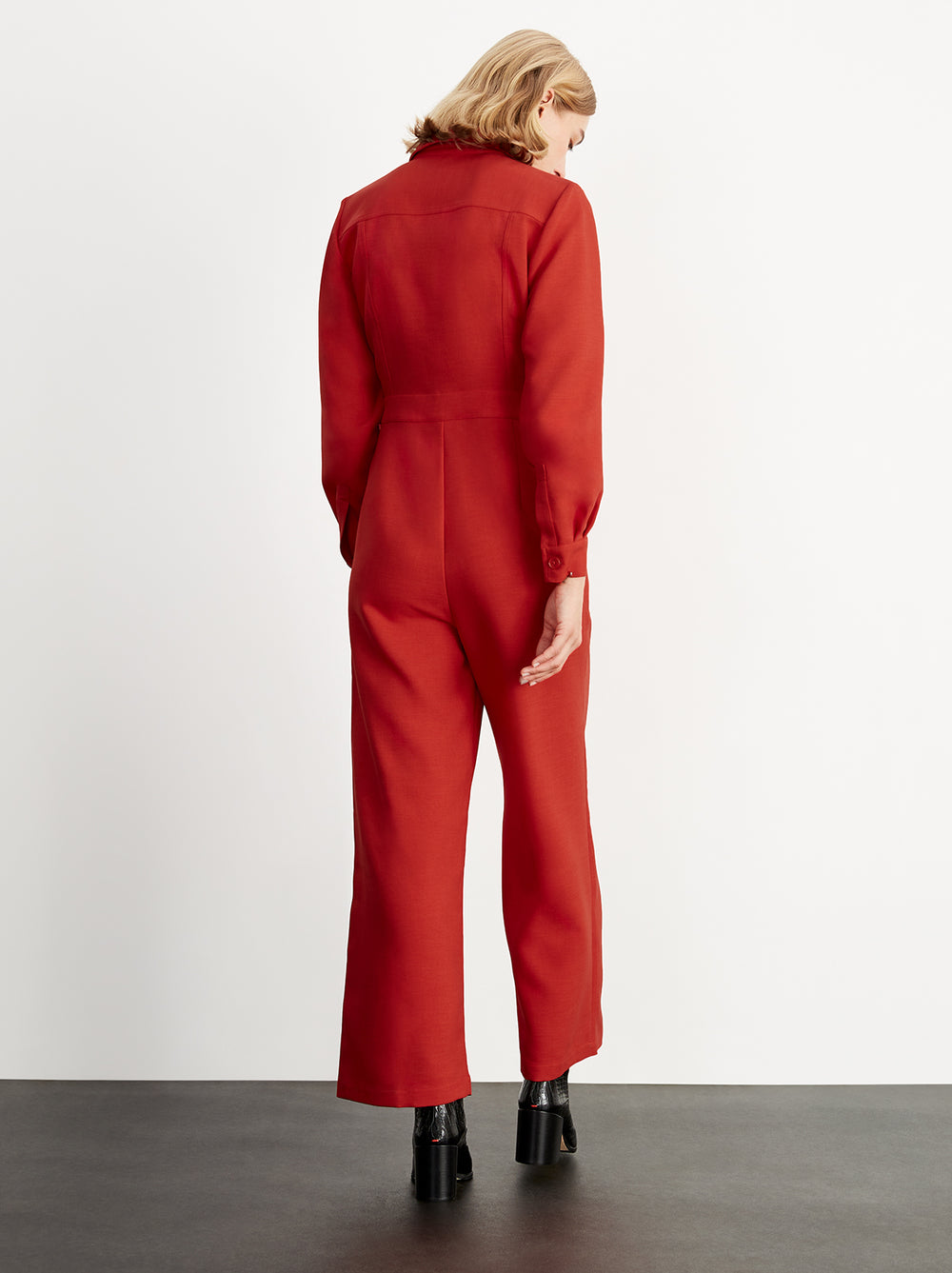 Monica Red Tailored Jumpsuit by KITRI Studio