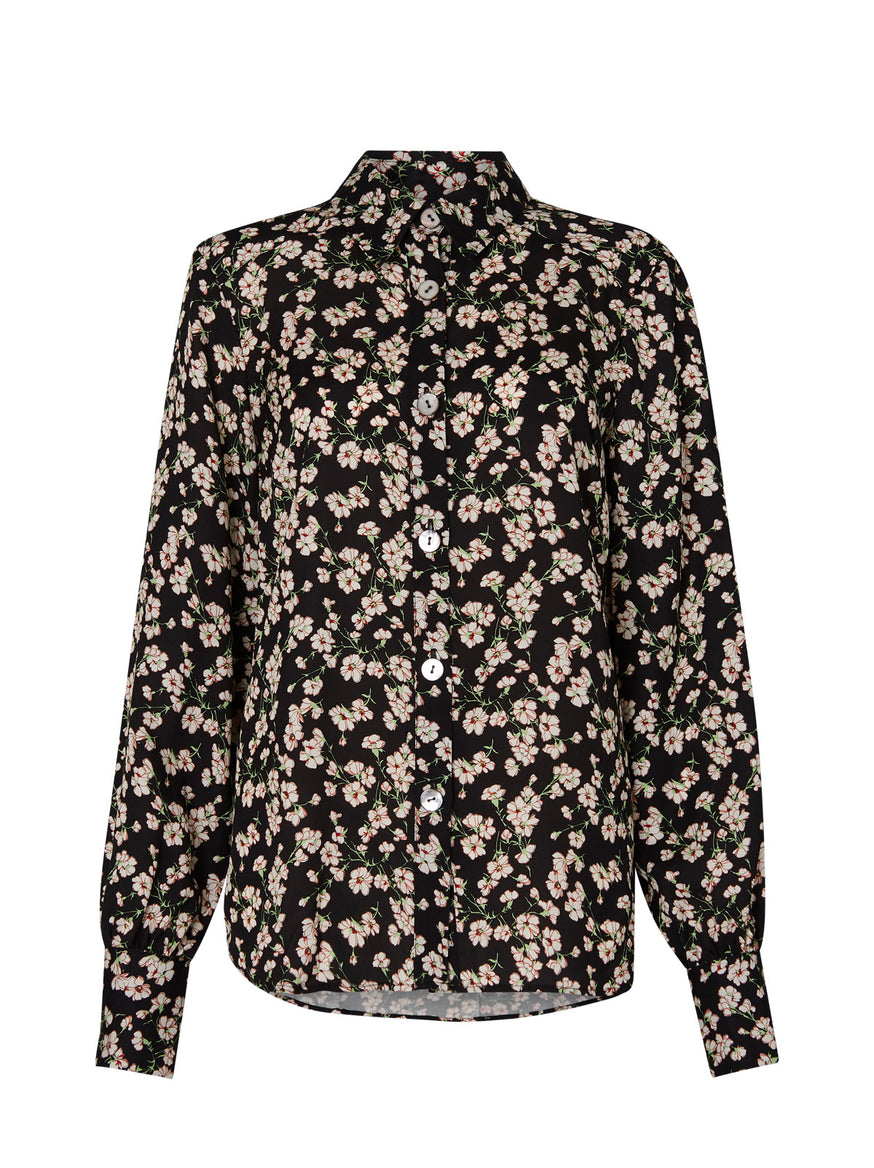 Morgan Black Floral Top by KITRI Studio