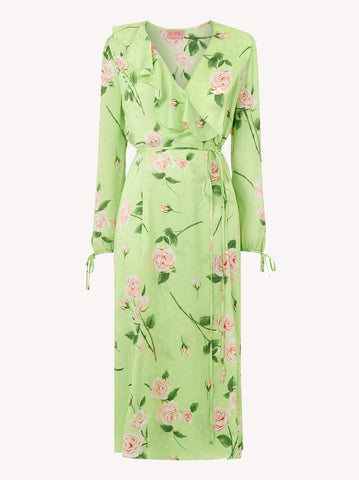 Nita Rose Print Wrap Dress