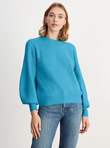 Odell Blue Rib Knit Jumper